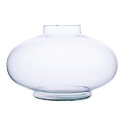 Glass vase grave candle UFO/W smooth H:22cm D:11cm