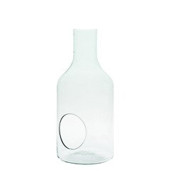 Glass bottle vase H:33cm D:15cm W-394A+hole