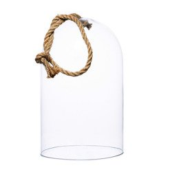 Glass dome W-315C+rope H:26cm D:16,2cm