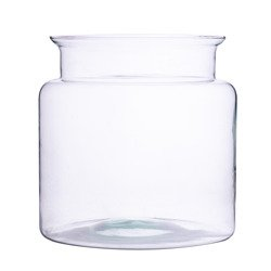 Glass jar vase H:14cm D:14cm W-332R3