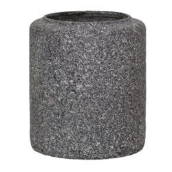 Glass jar vase H:17cm D:14,5cm WM-C001 LOFTI dark granite