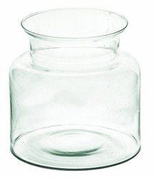 Glass jar vase H:20cm D:14cm W-332N