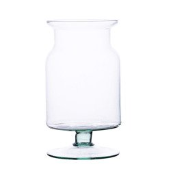 Glass jar vase W-332W1 H:23cm D:14cm