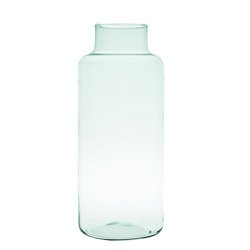 Glass jar vase W-395K H:35cm D:14,5cm
