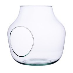 Glass vase W-456A+side hole H:19cm D:19cm