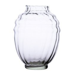 Glass vase grave candle K-045 chrysanthemum H:19,5cm D:7.8cm