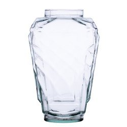 Glass vase grave candle cross H:27cm D:11cm