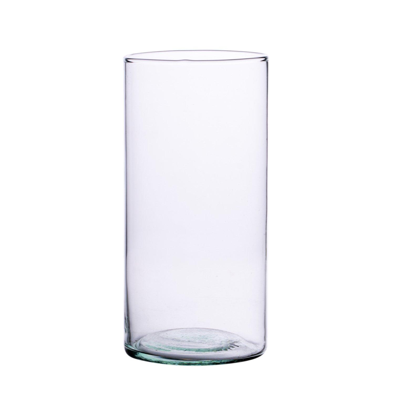 Handmade white cylinder glass vase  H-50cm