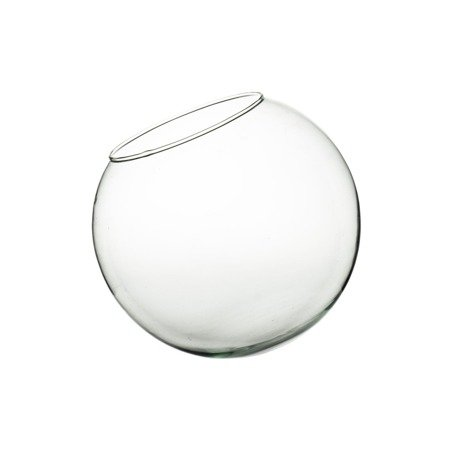 Glass ball vase D-15MD H:13cm D:15cm