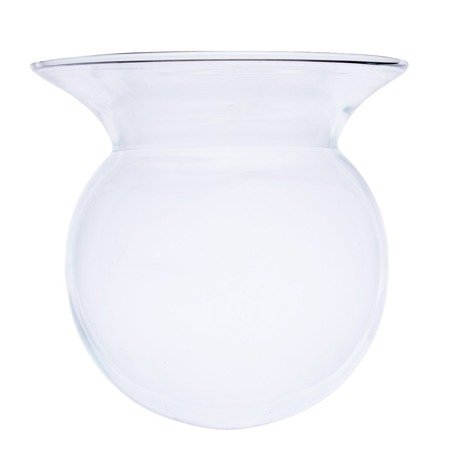 Glass ball vase with collar W-558 H:14cm D:14,5cm