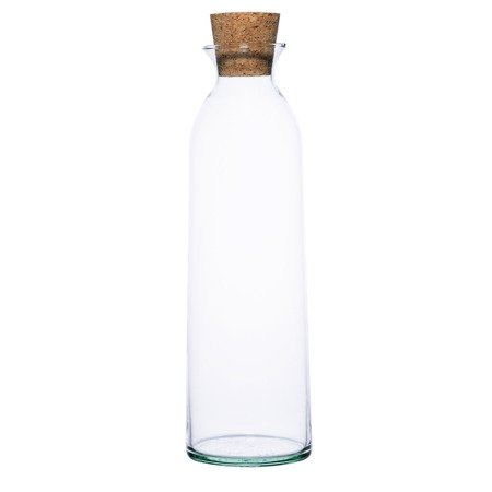 Glass bottle vase W-245B+cork H:30cm D:9,5cm