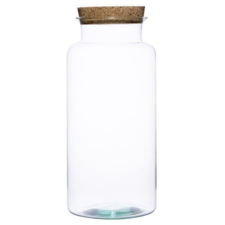 Glass jar vase W-332B1+cork H:40cm D:19cm