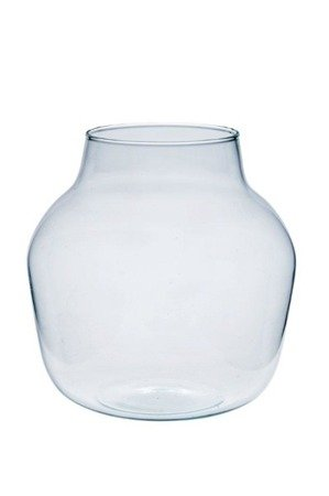 Glass jar vase W-456A H:19cm D:19cm