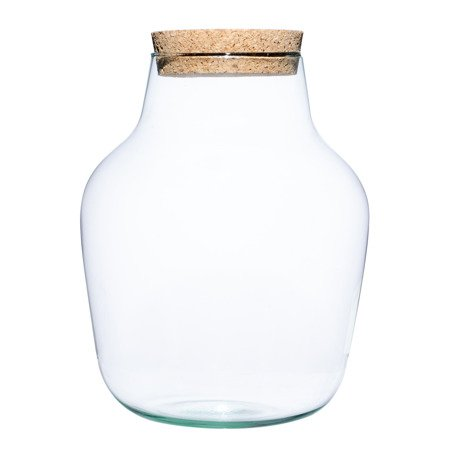 Glass jar vase W-456A4+cork H:29cm D:23cm