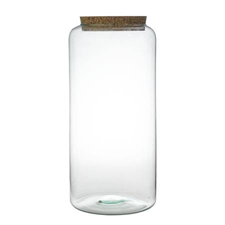 Glass jar vase W-605B +cork H:40cm D:19cm