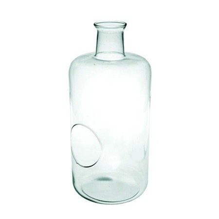 Glass terrarium W-467C+ side hole H:42,5cm D:20cm
