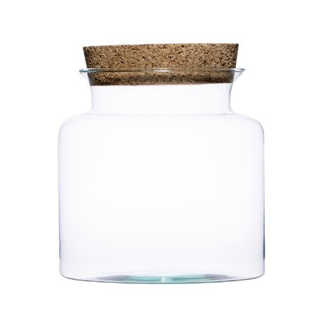 Glass vase W-332A+cork H:19cm D:19cm