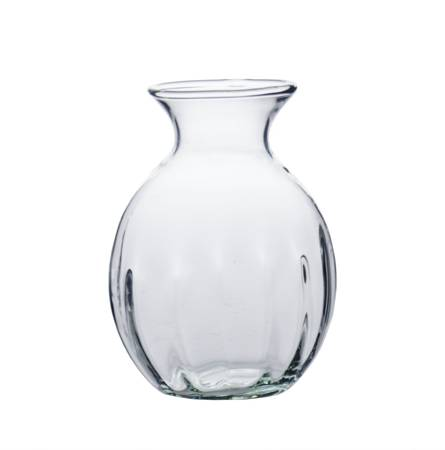 Glass vase WL-69A optic H:11,2cm D:7,5cm