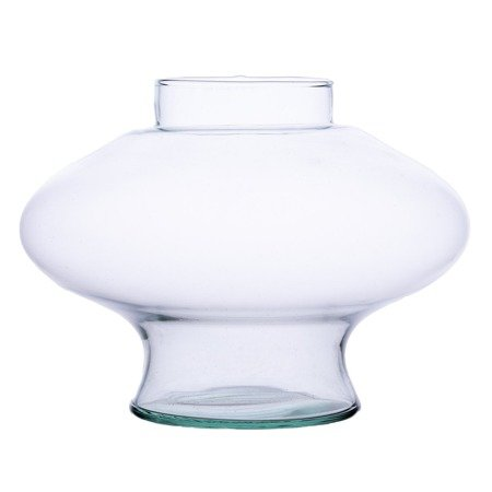 Glass vase grave candle K-015 smooth H:20cm D:11cm