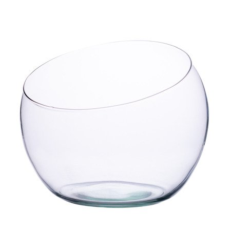 Slanted cut glass bowl D:20cm