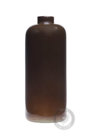Vase in the shape of a brown W-322 bottle H25cm